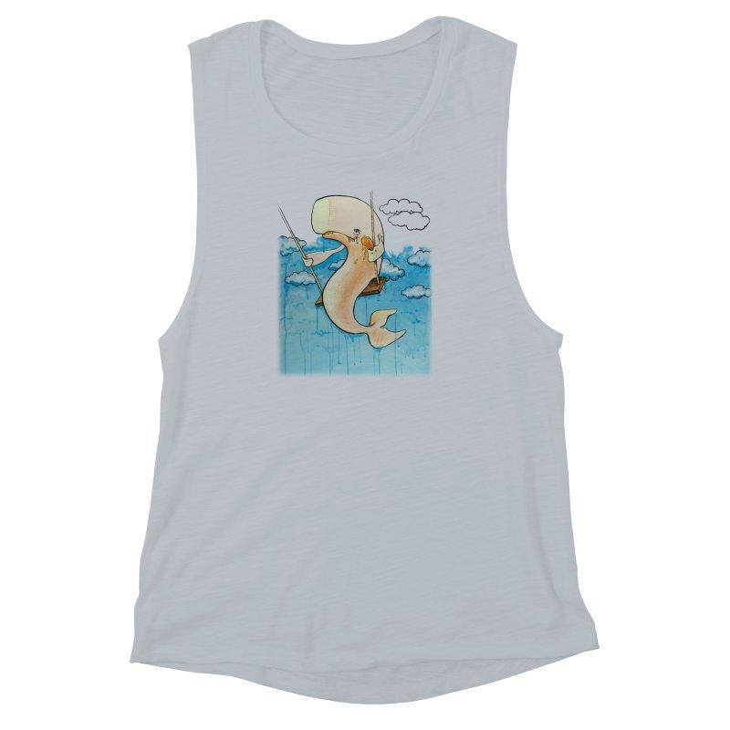 Whale on a Swing (Babedrienne's Brainfarts Cover) Women's Muscle Tank by Babedrienne's Artist Shop