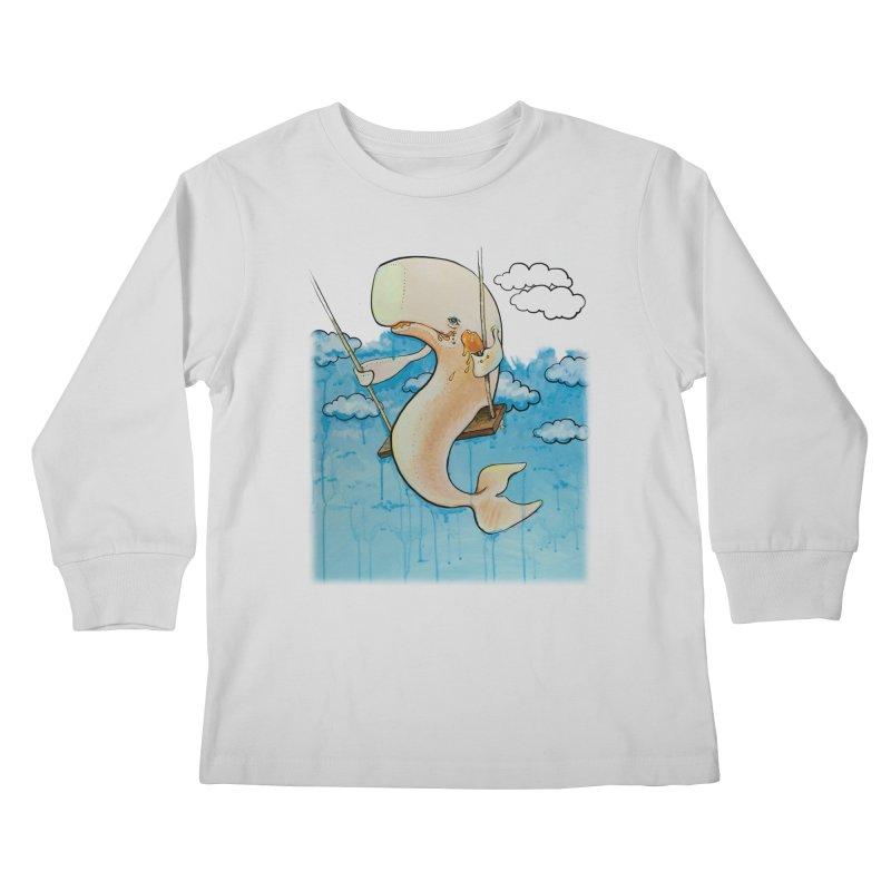 Whale on a Swing (Babedrienne's Brainfarts Cover) Kids Longsleeve T-Shirt by Babedrienne's Artist Shop