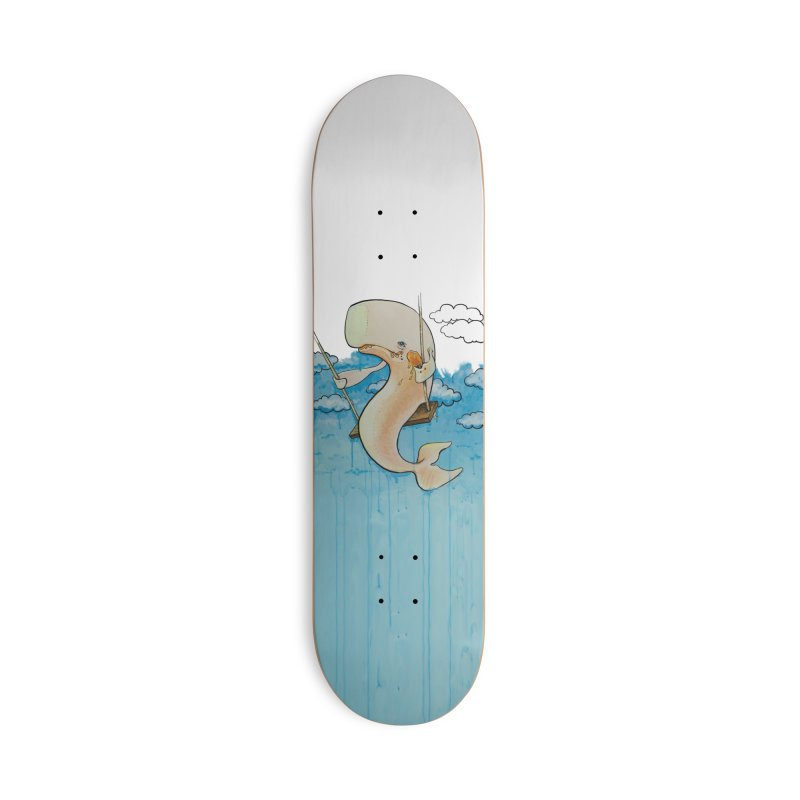 Whale on a Swing (Babedrienne's Brainfarts Cover) Accessories Deck Only Skateboard by Babedrienne's Artist Shop