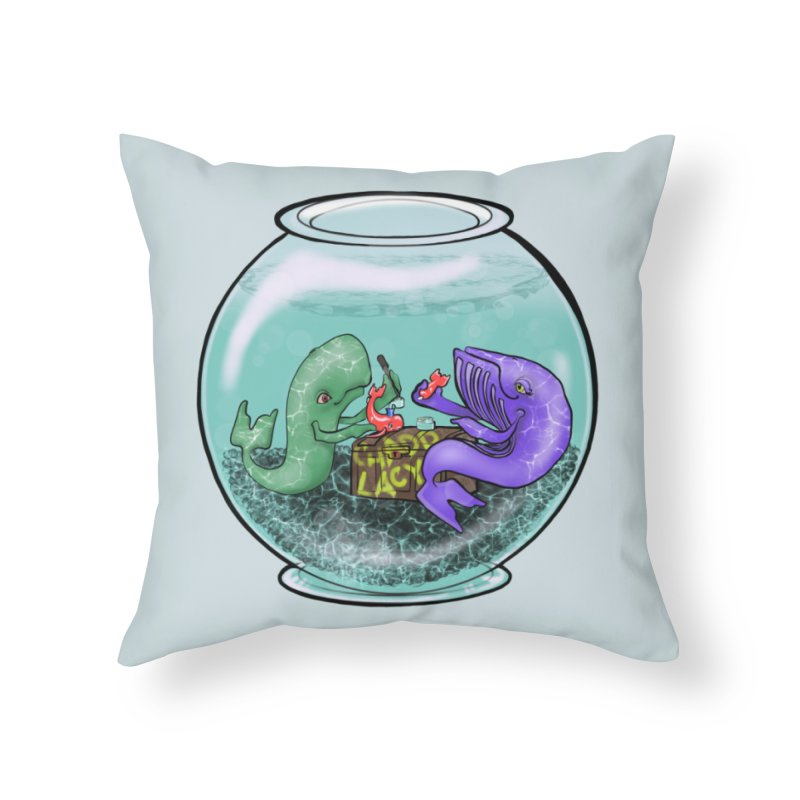 Chadd Lacy Whale Fishbowl Home Throw Pillow by Babedrienne's Artist Shop