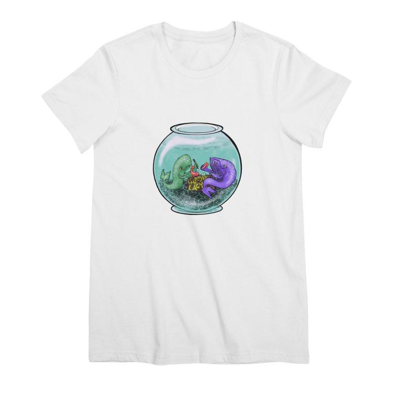 Chadd Lacy Whale Fishbowl Women's Premium T-Shirt by Babedrienne's Artist Shop