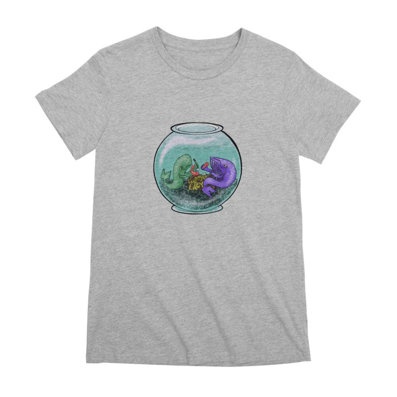 Chadd Lacy Whale Fishbowl Women's Premium T-Shirt by Babedrienne's Artist Shop