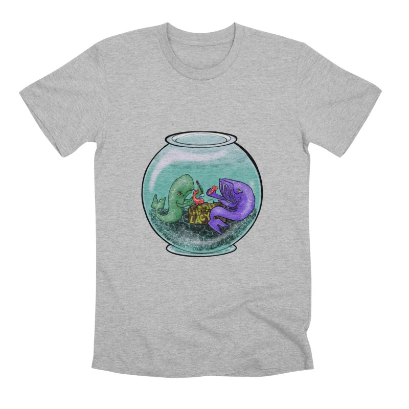 Chadd Lacy Whale Fishbowl Men's Premium T-Shirt by Babedrienne's Artist Shop