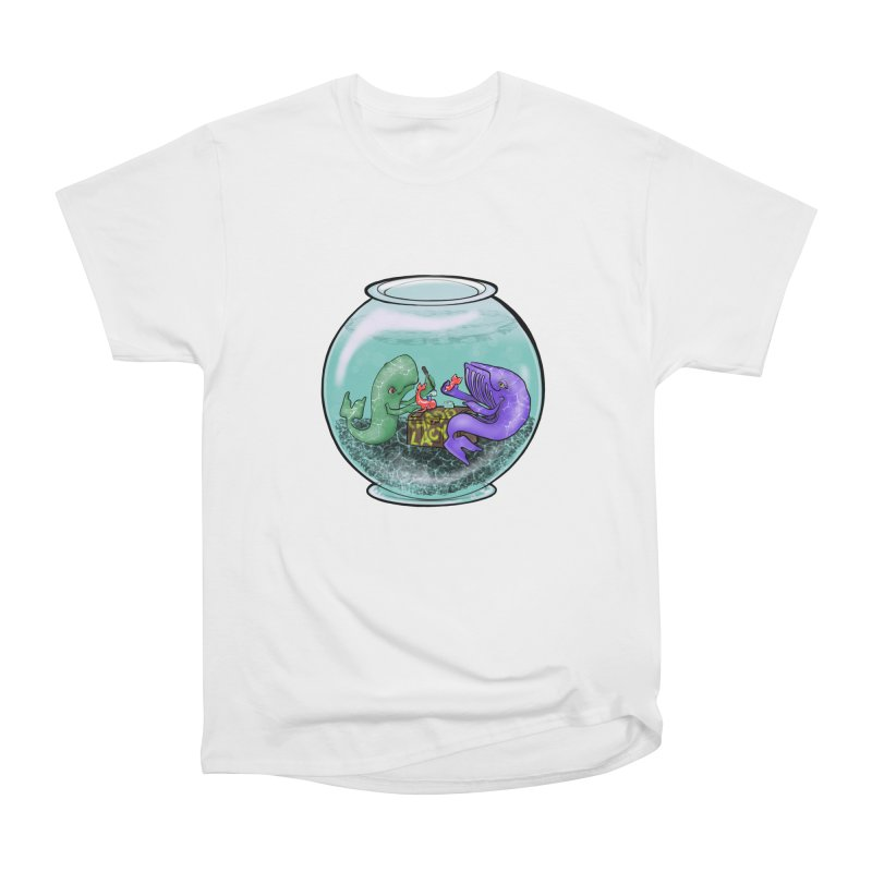 Chadd Lacy Whale Fishbowl Men's Heavyweight T-Shirt by Babedrienne's Artist Shop