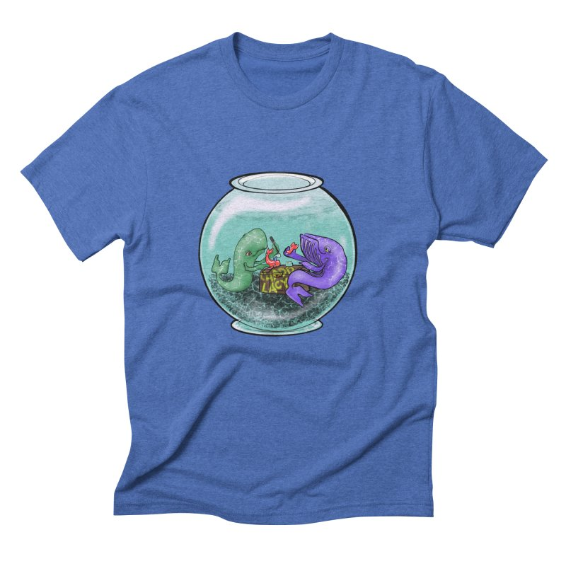 Chadd Lacy Whale Fishbowl Men's Triblend T-Shirt by Babedrienne's Artist Shop