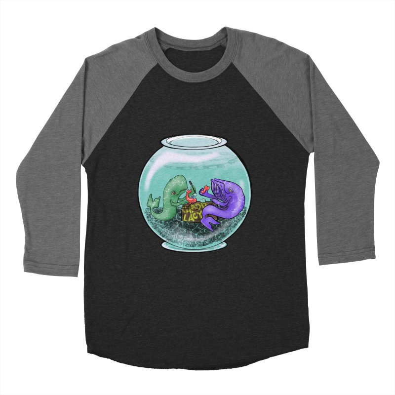 Chadd Lacy Whale Fishbowl Men's Baseball Triblend Longsleeve T-Shirt by Babedrienne's Artist Shop