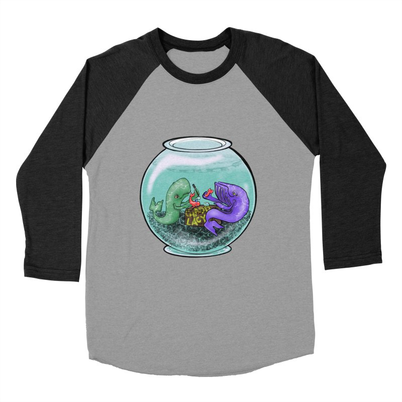 Chadd Lacy Whale Fishbowl Men's Baseball Triblend Longsleeve T-Shirt by Babedrienne's Artist Shop