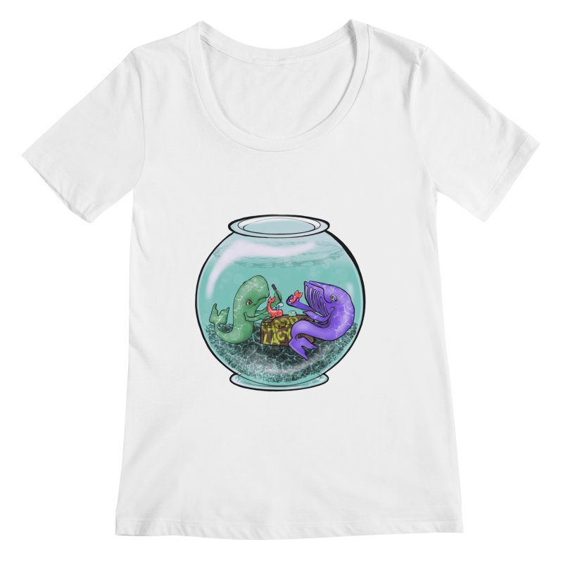 Chadd Lacy Whale Fishbowl Women's Regular Scoop Neck by Babedrienne's Artist Shop