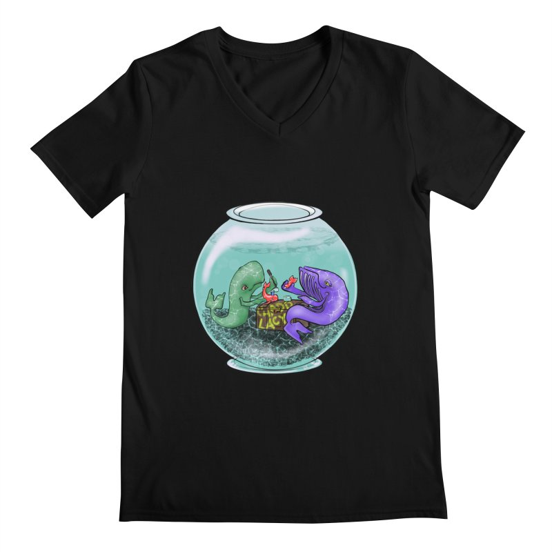 Chadd Lacy Whale Fishbowl Men's Regular V-Neck by Babedrienne's Artist Shop