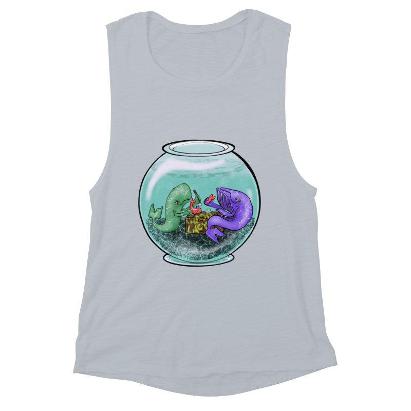 Chadd Lacy Whale Fishbowl Women's Muscle Tank by Babedrienne's Artist Shop