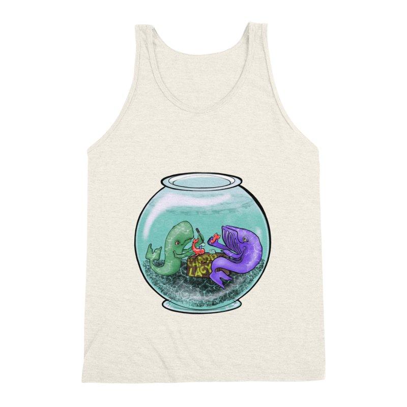 Chadd Lacy Whale Fishbowl Men's Triblend Tank by Babedrienne's Artist Shop
