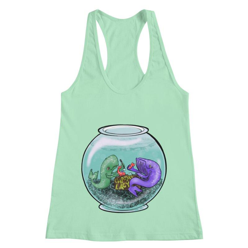 Chadd Lacy Whale Fishbowl Women's Racerback Tank by Babedrienne's Artist Shop