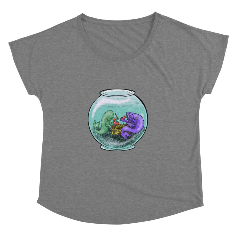 Chadd Lacy Whale Fishbowl Women's Scoop Neck by Babedrienne's Artist Shop