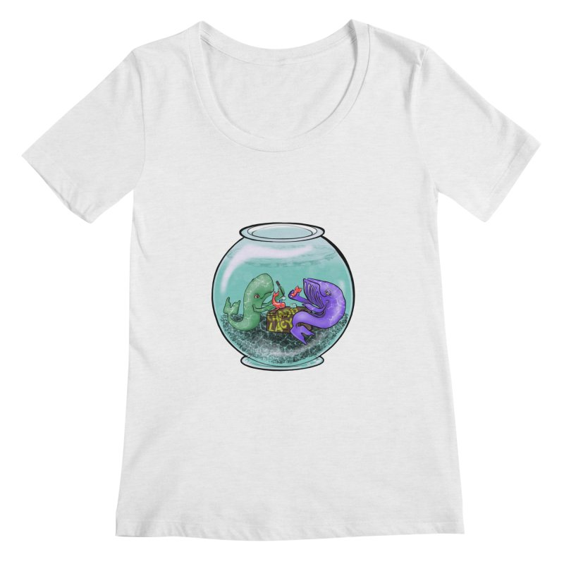 Chadd Lacy Whale Fishbowl Women's Regular Scoop Neck by Babedrienne's Artist Shop
