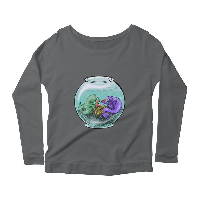 Chadd Lacy Whale Fishbowl Women's Scoop Neck Longsleeve T-Shirt by Babedrienne's Artist Shop