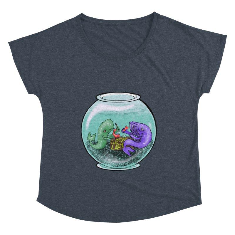 Chadd Lacy Whale Fishbowl Women's Dolman Scoop Neck by Babedrienne's Artist Shop