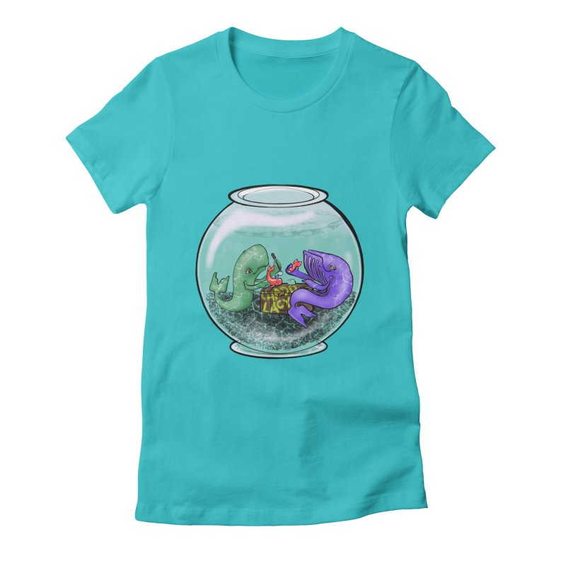 Chadd Lacy Whale Fishbowl Women's Fitted T-Shirt by Babedrienne's Artist Shop