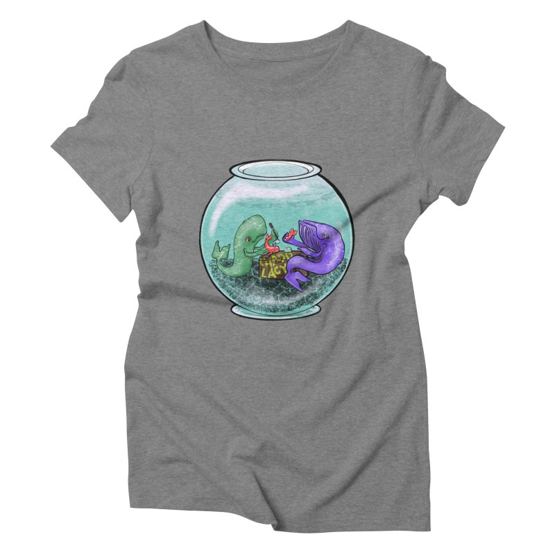 Chadd Lacy Whale Fishbowl Women's Triblend T-Shirt by Babedrienne's Artist Shop