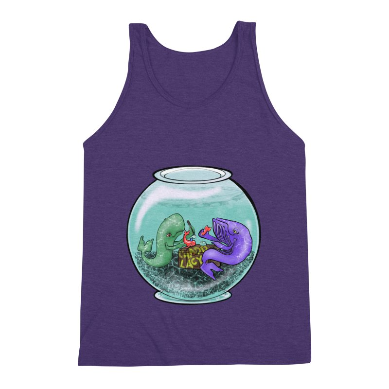 Chadd Lacy Whale Fishbowl Men's Triblend Tank by Babedrienne's Artist Shop
