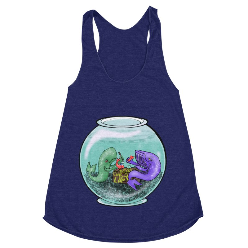 Chadd Lacy Whale Fishbowl Women's Racerback Triblend Tank by Babedrienne's Artist Shop