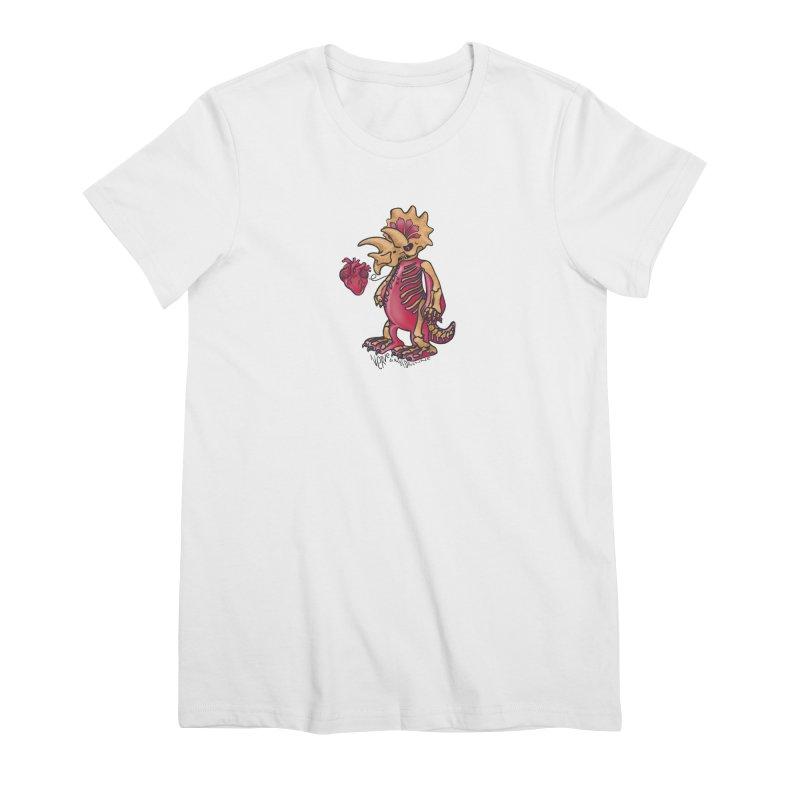 Nerv Triceratops Skeleton Women's Premium T-Shirt by Babedrienne's Artist Shop