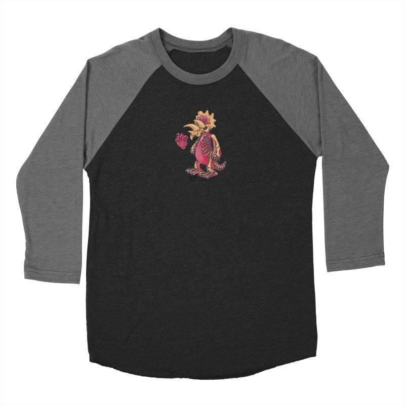 Nerv Triceratops Skeleton Men's Baseball Triblend Longsleeve T-Shirt by Babedrienne's Artist Shop