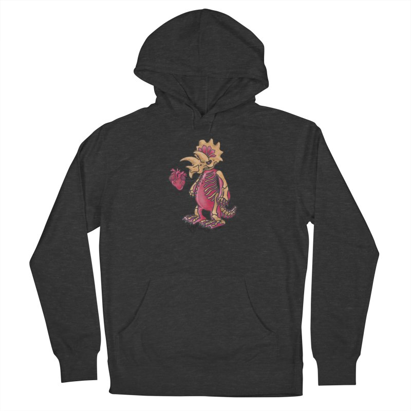 Nerv Triceratops Skeleton Women's French Terry Pullover Hoody by Babedrienne's Artist Shop