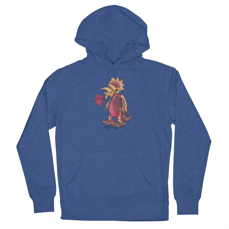 Nerv Triceratops Skeleton Men's French Terry Pullover Hoody by Babedrienne's Artist Shop