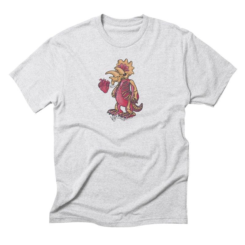 Nerv Triceratops Skeleton Men's Triblend T-Shirt by Babedrienne's Artist Shop
