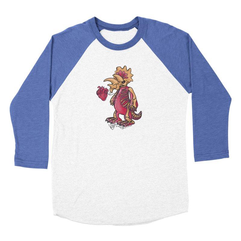 Nerv Triceratops Skeleton Women's Baseball Triblend Longsleeve T-Shirt by Babedrienne's Artist Shop