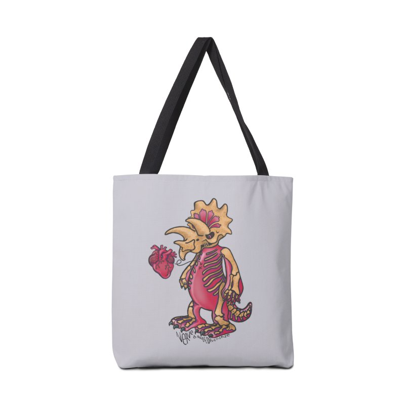 Nerv Triceratops Skeleton Accessories Tote Bag Bag by Babedrienne's Artist Shop