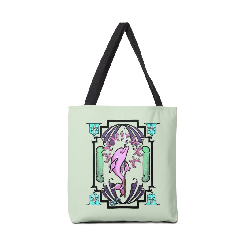 Nouveau Dolphin Accessories Tote Bag Bag by Babedrienne's Artist Shop