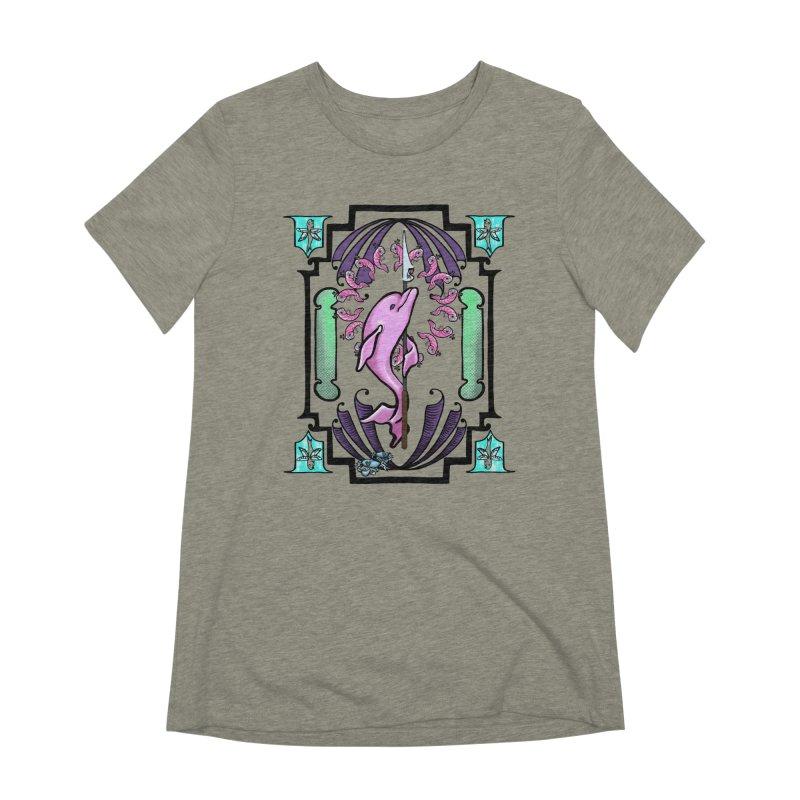 Nouveau Dolphin Women's Extra Soft T-Shirt by Babedrienne's Artist Shop