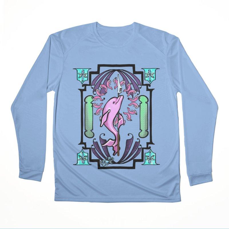 Nouveau Dolphin Men's Longsleeve T-Shirt by Babedrienne's Artist Shop