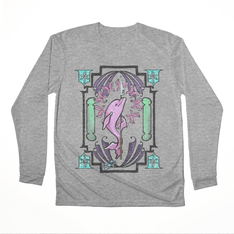 Nouveau Dolphin Men's Performance Longsleeve T-Shirt by Babedrienne's Artist Shop