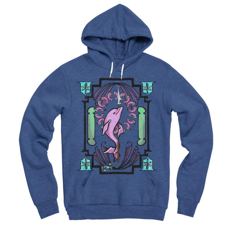 Nouveau Dolphin Women's Sponge Fleece Pullover Hoody by Babedrienne's Artist Shop