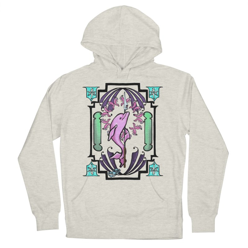 Nouveau Dolphin Men's French Terry Pullover Hoody by Babedrienne's Artist Shop