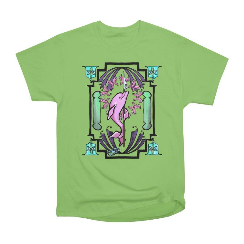 Nouveau Dolphin Women's Heavyweight Unisex T-Shirt by Babedrienne's Artist Shop