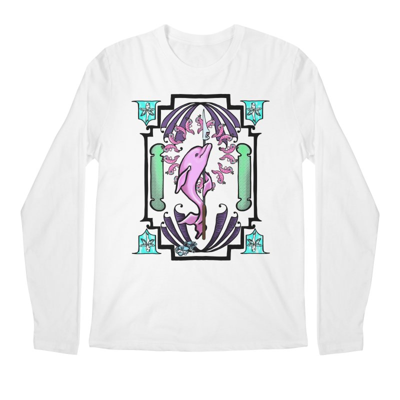 Nouveau Dolphin Men's Regular Longsleeve T-Shirt by Babedrienne's Artist Shop