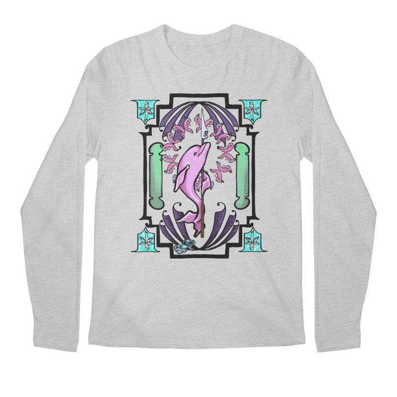 Nouveau Dolphin Men's Regular Longsleeve T-Shirt by Babedrienne's Artist Shop