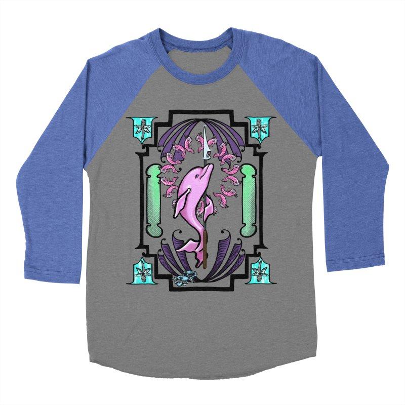 Nouveau Dolphin Women's Baseball Triblend Longsleeve T-Shirt by Babedrienne's Artist Shop