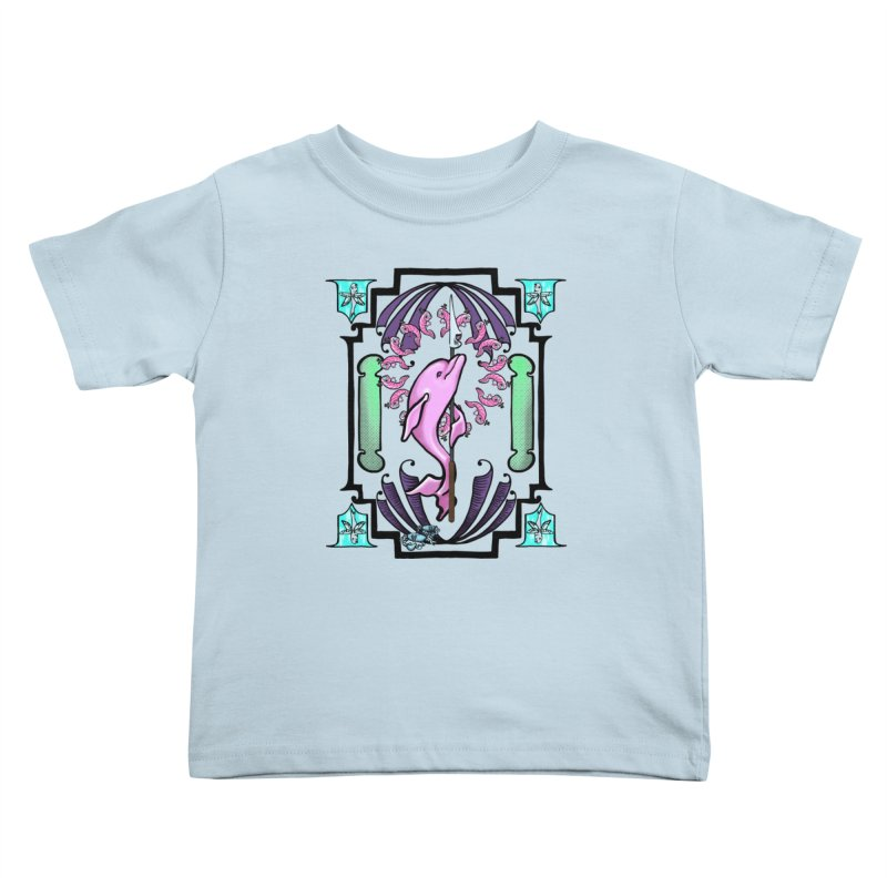 Nouveau Dolphin Kids Toddler T-Shirt by Babedrienne's Artist Shop