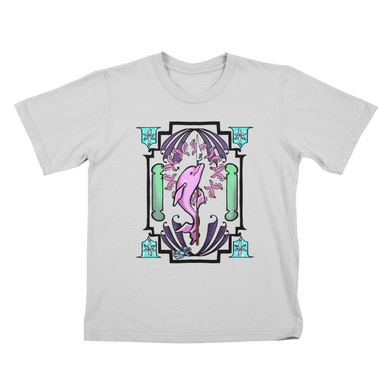 Nouveau Dolphin Kids T-Shirt by Babedrienne's Artist Shop