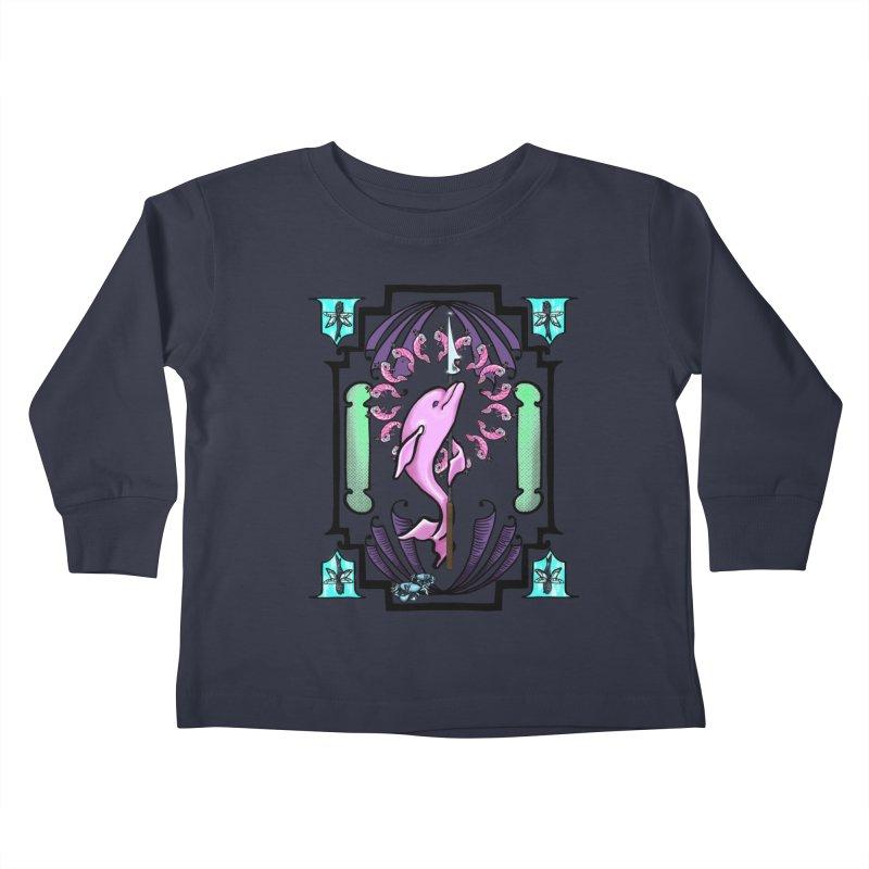 Nouveau Dolphin Kids Toddler Longsleeve T-Shirt by Babedrienne's Artist Shop