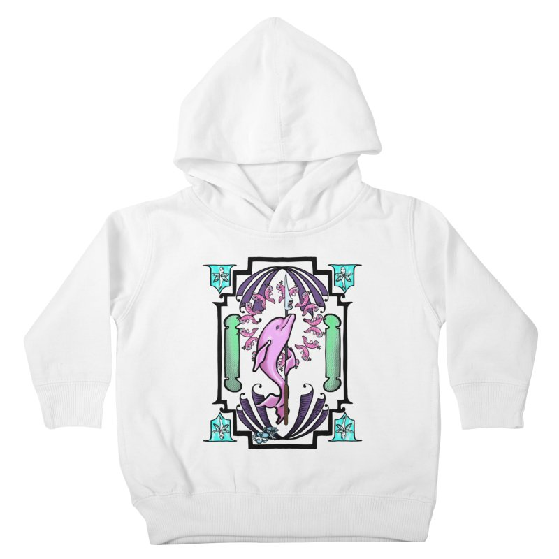Nouveau Dolphin Kids Toddler Pullover Hoody by Babedrienne's Artist Shop