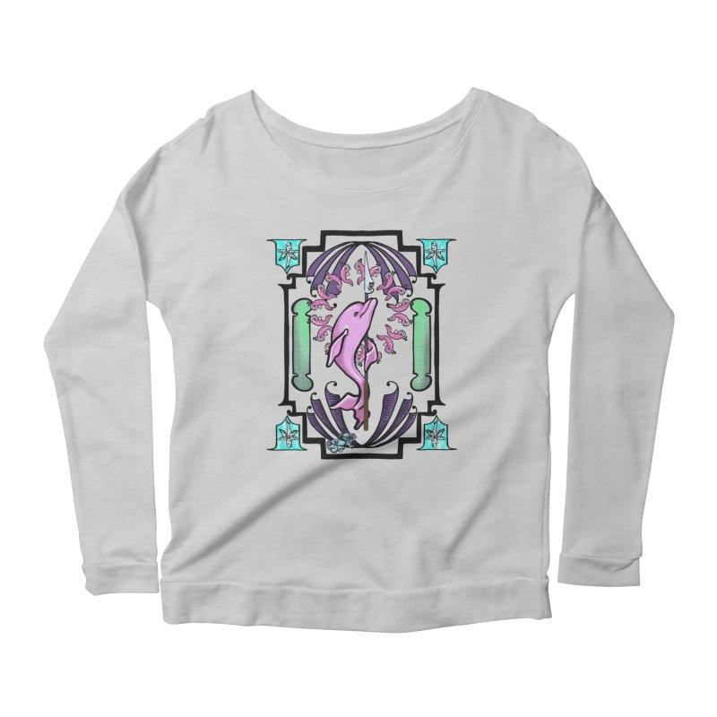 Nouveau Dolphin Women's Scoop Neck Longsleeve T-Shirt by Babedrienne's Artist Shop