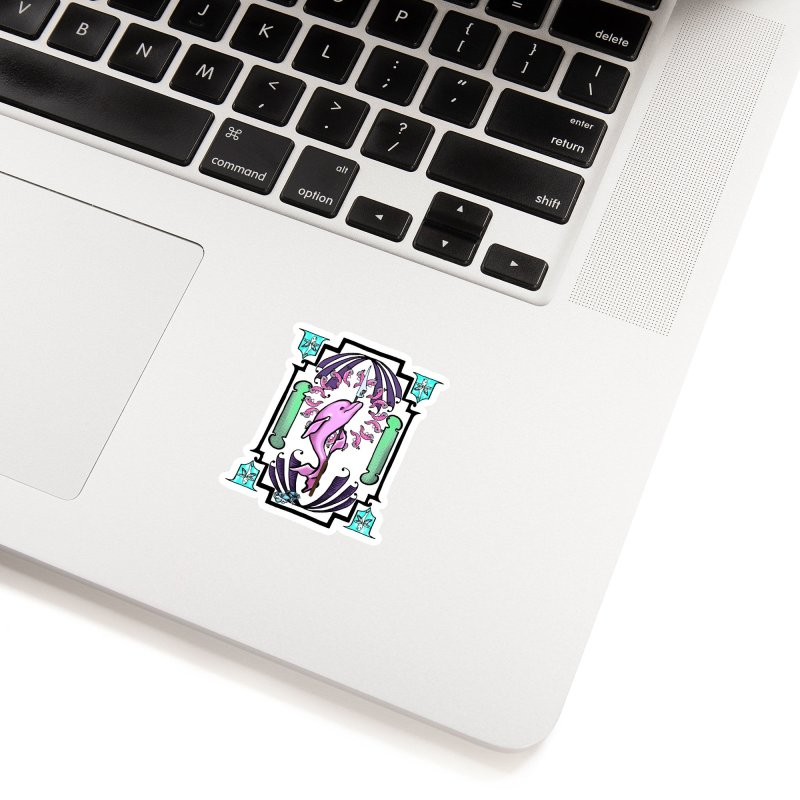 Nouveau Dolphin Accessories Sticker by Babedrienne's Artist Shop