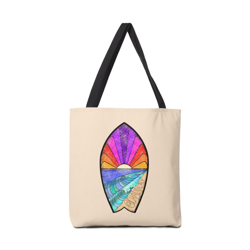 Sunset Surfboard Accessories Tote Bag Bag by Babedrienne's Artist Shop