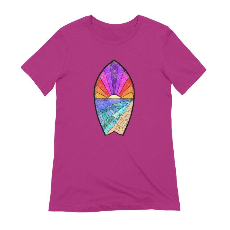 Sunset Surfboard Women's Extra Soft T-Shirt by Babedrienne's Artist Shop