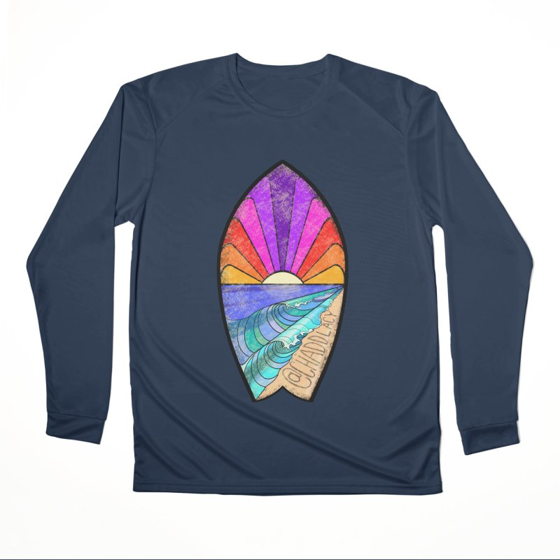 Sunset Surfboard Men's Performance Longsleeve T-Shirt by Babedrienne's Artist Shop